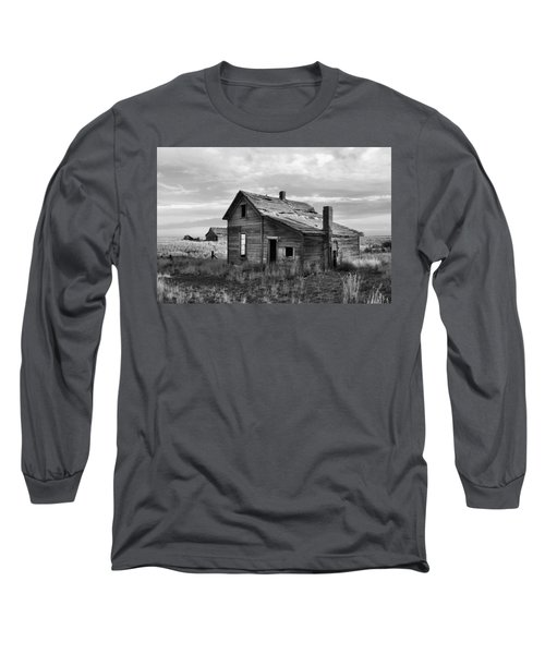 Long Sleeve T-Shirt featuring the photograph This Old House by Jim Walls PhotoArtist