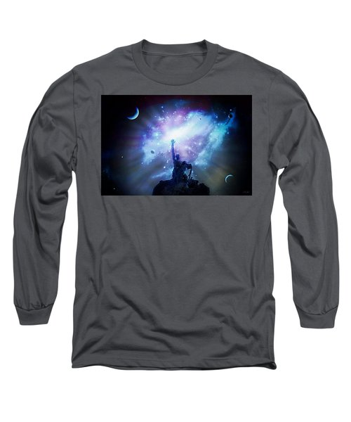 This Poor Man Cried, And The Lord Heard Him, And Saved Him Out Of All His Troubles. Long Sleeve T-Shirt