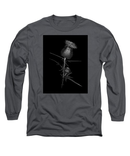 Thistle 1 Long Sleeve T-Shirt by Simone Ochrym