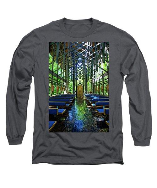 Thorncrown Chapel Serenity Long Sleeve T-Shirt
