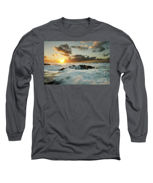 Long Sleeve T-Shirt featuring the photograph Thors Well Cape Perpetua 1 by Bob Christopher