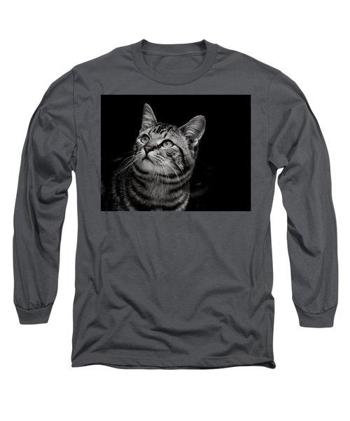 Thoughtful Tabby Long Sleeve T-Shirt