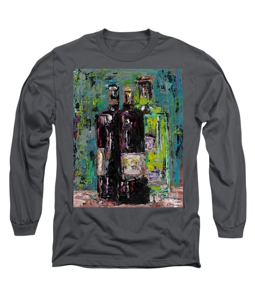 Three Bottles Of Wine Long Sleeve T-Shirt