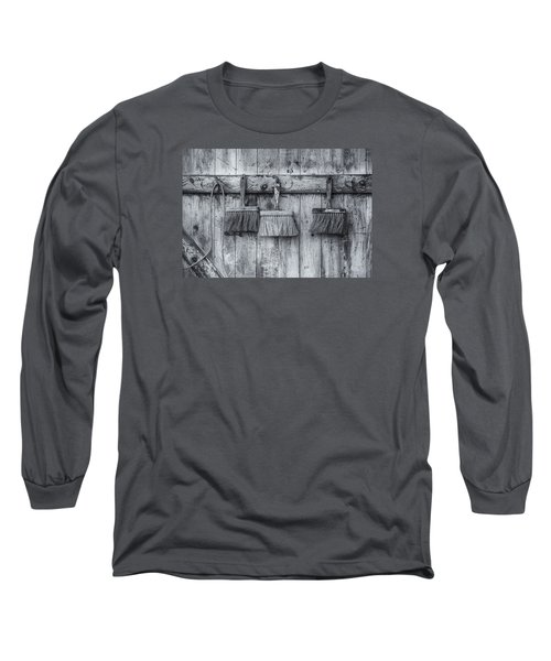 Long Sleeve T-Shirt featuring the photograph Three Brushes Black And White by Tom Singleton