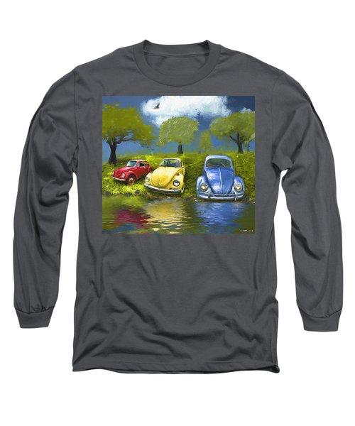 Three Bugs On A Hill Long Sleeve T-Shirt