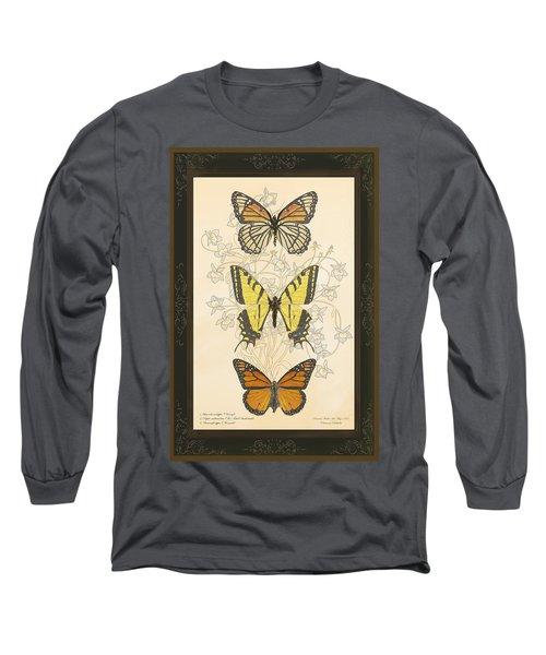 Three Butterflies Long Sleeve T-Shirt