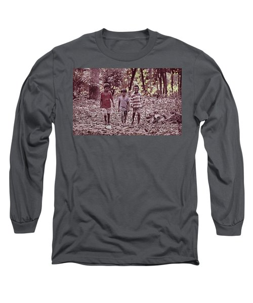 Long Sleeve T-Shirt featuring the photograph Three Campanions by Arik S Mintorogo
