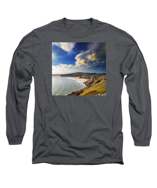 Three Cliffs Bay 1 Long Sleeve T-Shirt