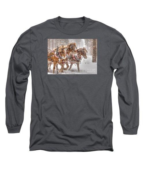 Three Horses - Color Long Sleeve T-Shirt