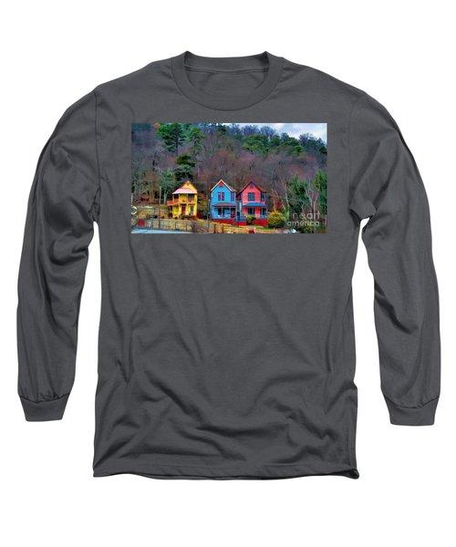 Long Sleeve T-Shirt featuring the photograph Three Houses Hot Springs Ar by Diana Mary Sharpton