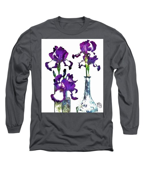 Three Irises In Vases Long Sleeve T-Shirt