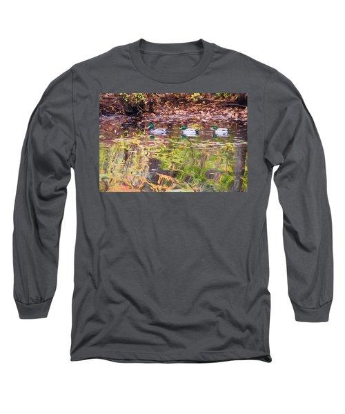 Three Mallards. Long Sleeve T-Shirt