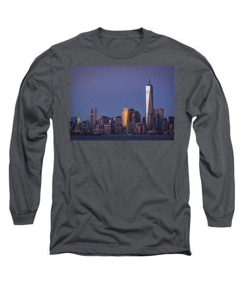 Three New York Symbols Long Sleeve T-Shirt