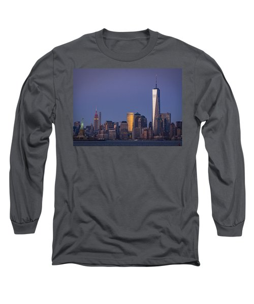 Three New York Symbols Long Sleeve T-Shirt