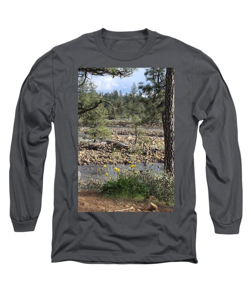 Long Sleeve T-Shirt featuring the photograph Three Rivers In One by Marie Neder