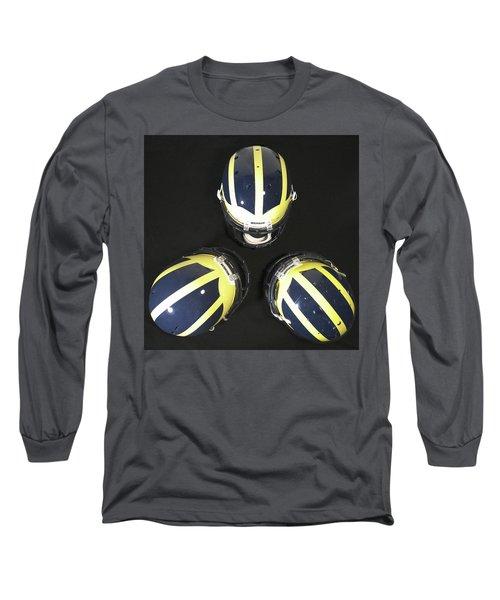 Three Striped Wolverine Helmets Long Sleeve T-Shirt