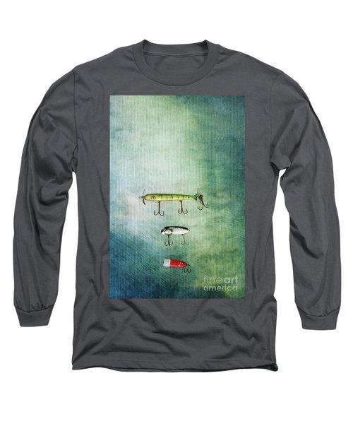 Three Vintage Fishing Lures Long Sleeve T-Shirt
