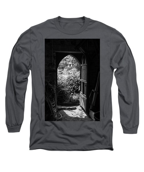 Long Sleeve T-Shirt featuring the photograph Through The Door by Clare Bambers