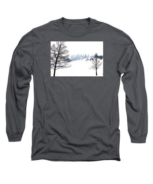 Through The Falling Snow Long Sleeve T-Shirt
