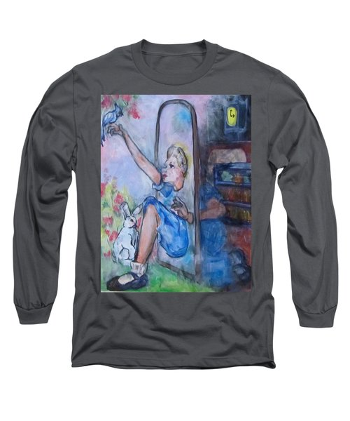 Through The Looking Glass Long Sleeve T-Shirt by Barbara O'Toole