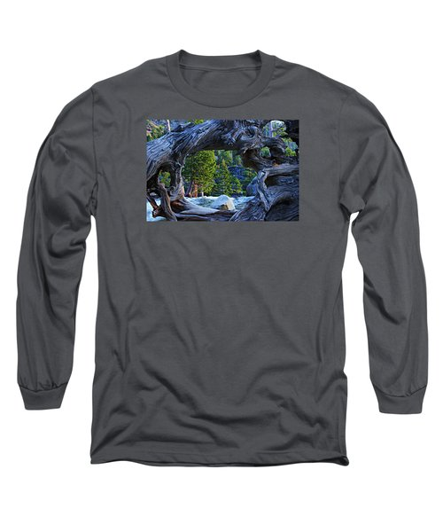 Through The Looking Glass Long Sleeve T-Shirt by Sean Sarsfield