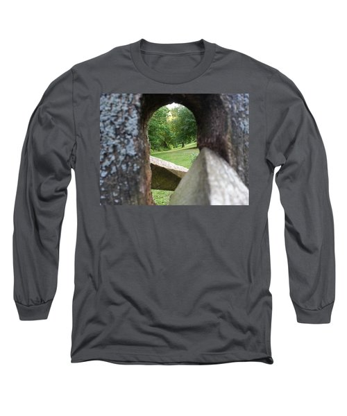 Long Sleeve T-Shirt featuring the photograph Through The Post by Robert Knight