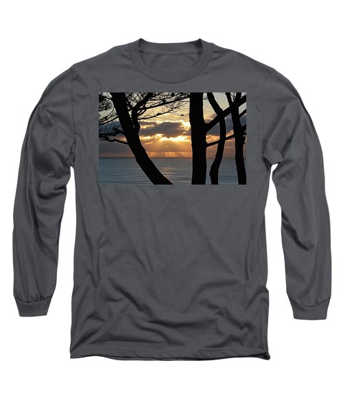 Long Sleeve T-Shirt featuring the photograph Through The Trees by AJ Schibig