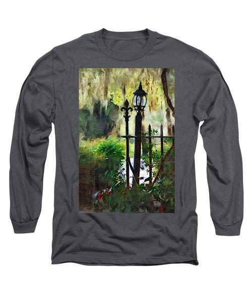 Long Sleeve T-Shirt featuring the digital art Thru The Gate by Donna Bentley