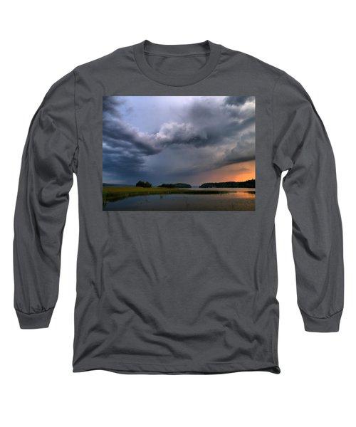 Long Sleeve T-Shirt featuring the photograph Thunder At Siuro by Jouko Lehto