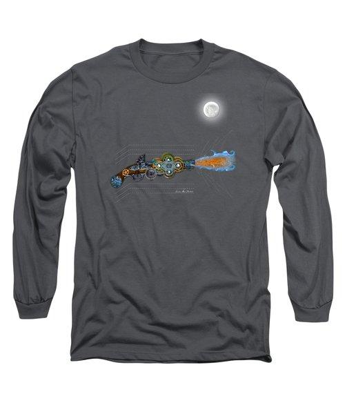 Thunder Gun Of The Dead Long Sleeve T-Shirt by Iowan Stone-Flowers
