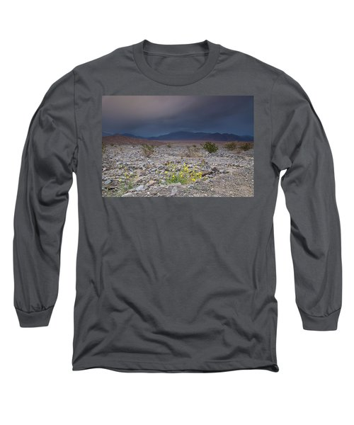Thunderstorm Over Death Valley National Park Long Sleeve T-Shirt