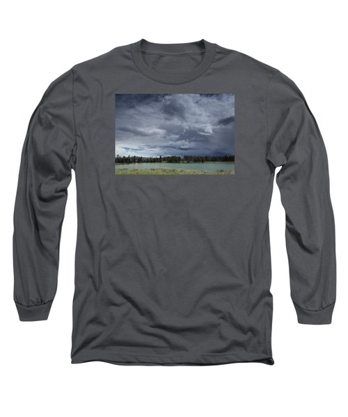 Thunderstorm Over Indian Pond Long Sleeve T-Shirt