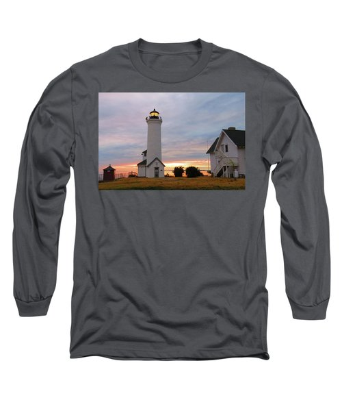 Tibbetts Point Lighthouse, July Sunset Long Sleeve T-Shirt