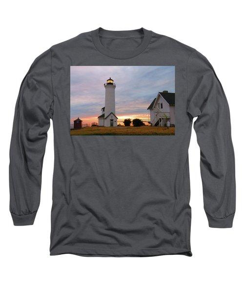 Tibbetts Point Lighthouse, July Sunset Long Sleeve T-Shirt