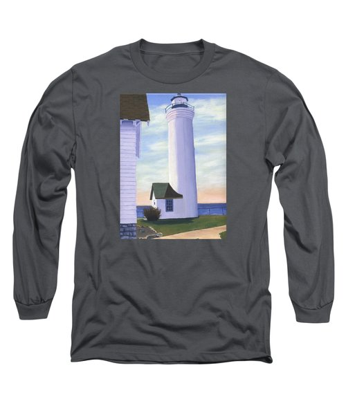 Long Sleeve T-Shirt featuring the painting Tibbett's Point by Lynne Reichhart