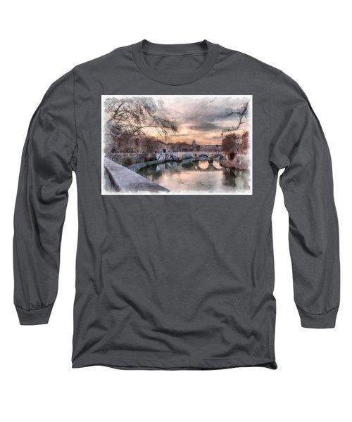 Tiber - Aquarelle Long Sleeve T-Shirt