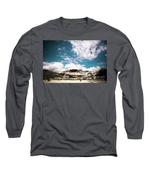 Tibet Potala Palace Dalai Lama Home Place. Kailash Yantra.lv 2016  Long Sleeve T-Shirt