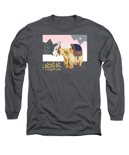 Tibet Yak Collage Long Sleeve T-Shirt by Claudia Schoen