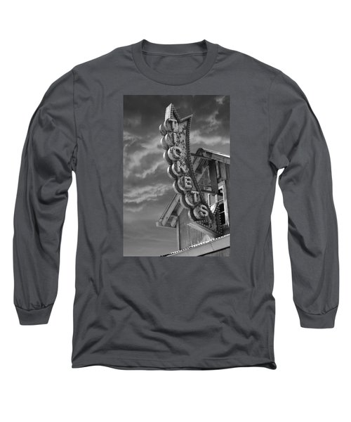 Long Sleeve T-Shirt featuring the photograph Tickets Bw by Laura Fasulo