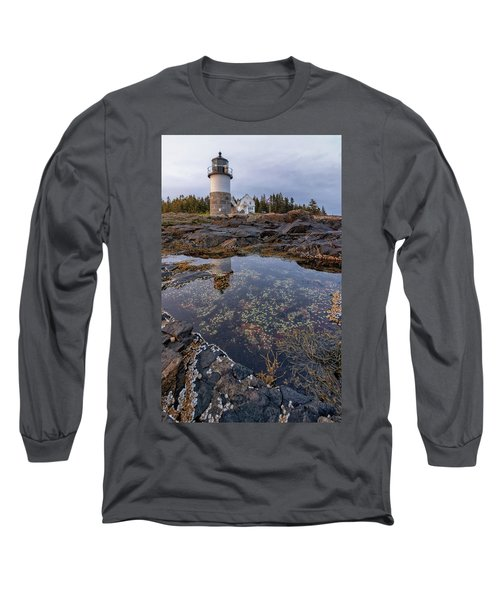 Tide Pools At Marshall Point Lighthouse Long Sleeve T-Shirt