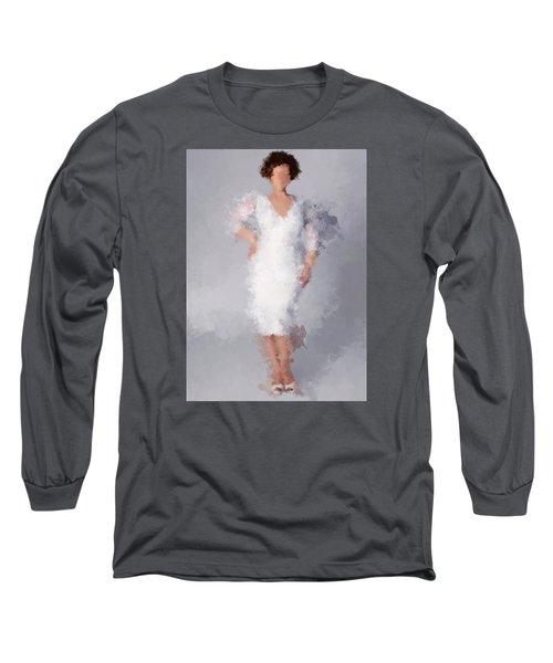 Long Sleeve T-Shirt featuring the digital art Tiffany by Nancy Levan