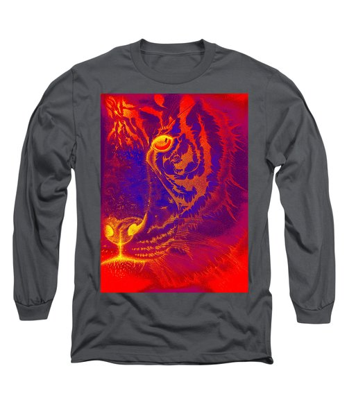 Tiger On Fire Long Sleeve T-Shirt