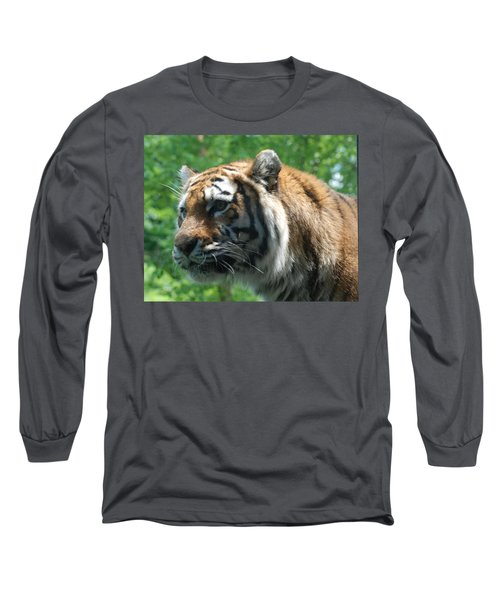 Long Sleeve T-Shirt featuring the photograph Tiger Profile by Richard Bryce and Family