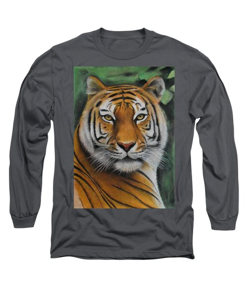 Tiger - The Heart Of India Long Sleeve T-Shirt by Vishvesh Tadsare