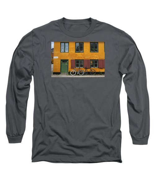 Tigergade Apartment Scene Long Sleeve T-Shirt by Eric Nielsen