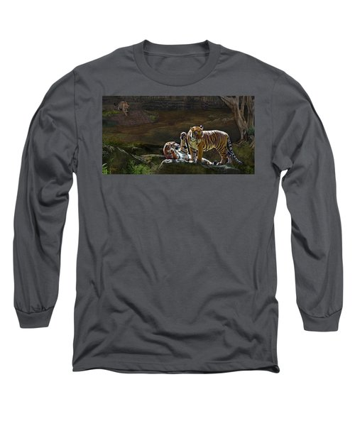 Tigers In The Night Long Sleeve T-Shirt