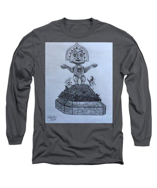 Tiki God Long Sleeve T-Shirt by Tony Clark