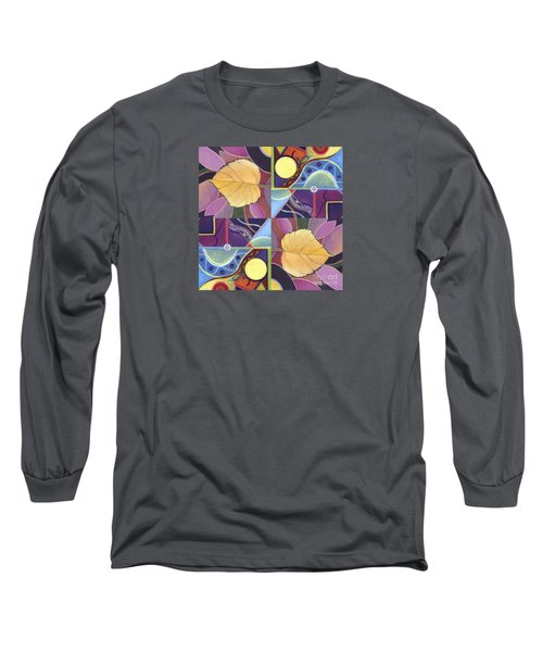 Time Goes By - The Joy Of Design Series Arrangement Long Sleeve T-Shirt by Helena Tiainen