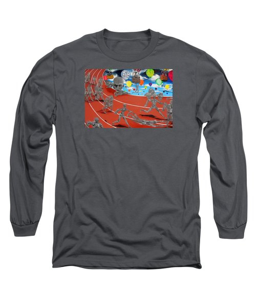 Time Is Moving Long Sleeve T-Shirt by Raymond Perez