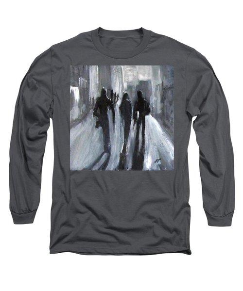 Time Of Long Shadows Long Sleeve T-Shirt by Barbara O'Toole